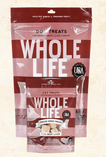 Whole Life  Liver Treats, Chicken or Beef, for Dogs or Cats