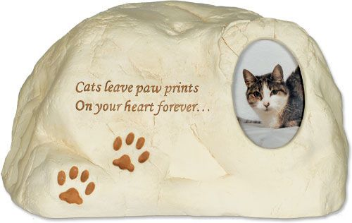 Cat Paw Prints Rock Pet Urn