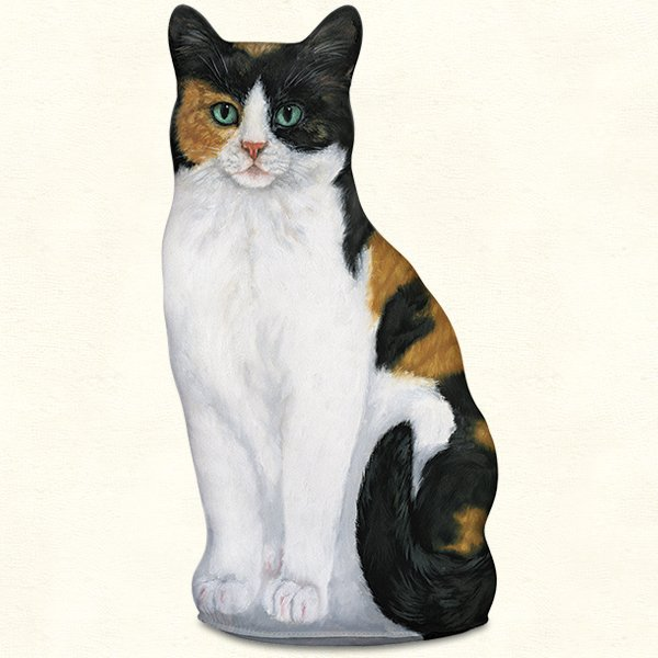 Calico Cat Doorstop