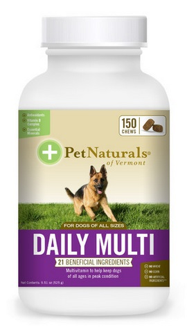 Pet Naturals of Vermont Daily Multi Tab for Dogs, 60  tabs