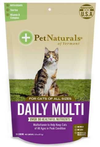 Pet Naturals of Vermont Daily Multi for Cats, 30 softchews