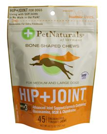 Pet Naturals of Vermont Hip and Joint Treats for Medium Dogs, 45 softchews