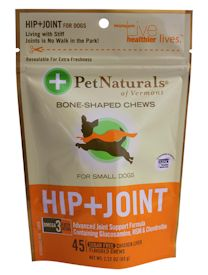 Pet Naturals of Vermont Hip and Joint Treats for Small Dogs, 45 softchews