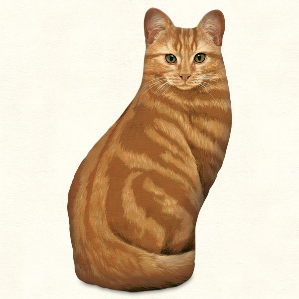 Orange Tabby Cat Doorstop