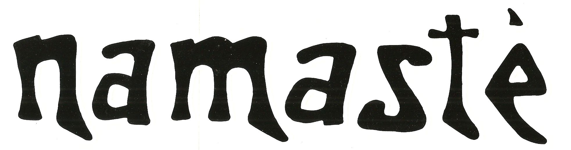 Namaste' Bumper Sticker