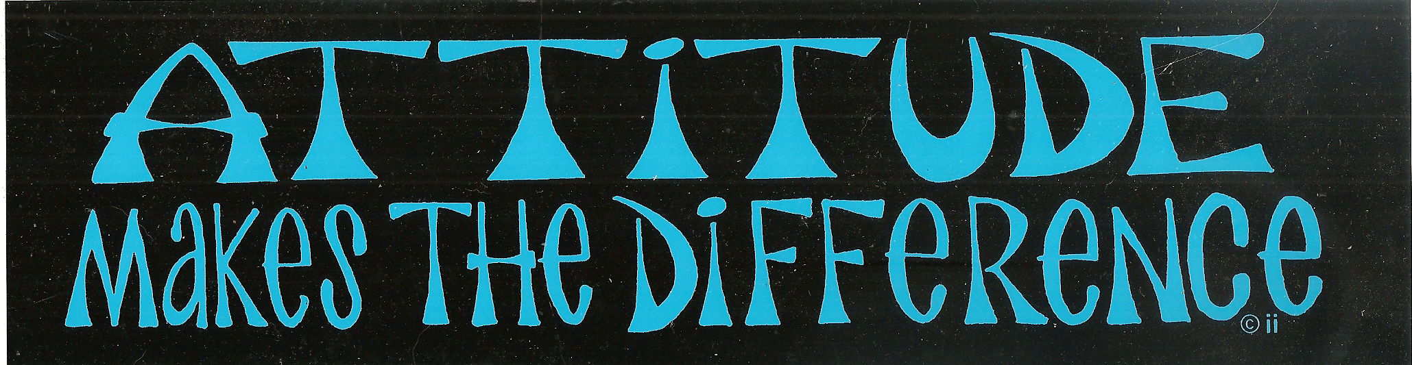 Attitude Makes the Difference Bumper Sticker