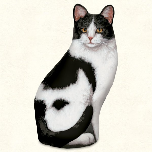 Black and White Cat Doorstop