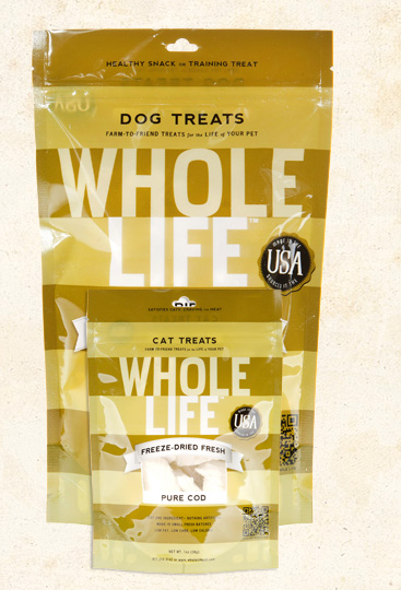 Whole Life Cod Treats, 1 oz., 2 oz., and 10 oz. for Dogs or Cats