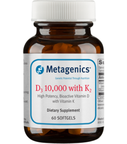 Metagenics D3 10,000 w/K2, 60 gels