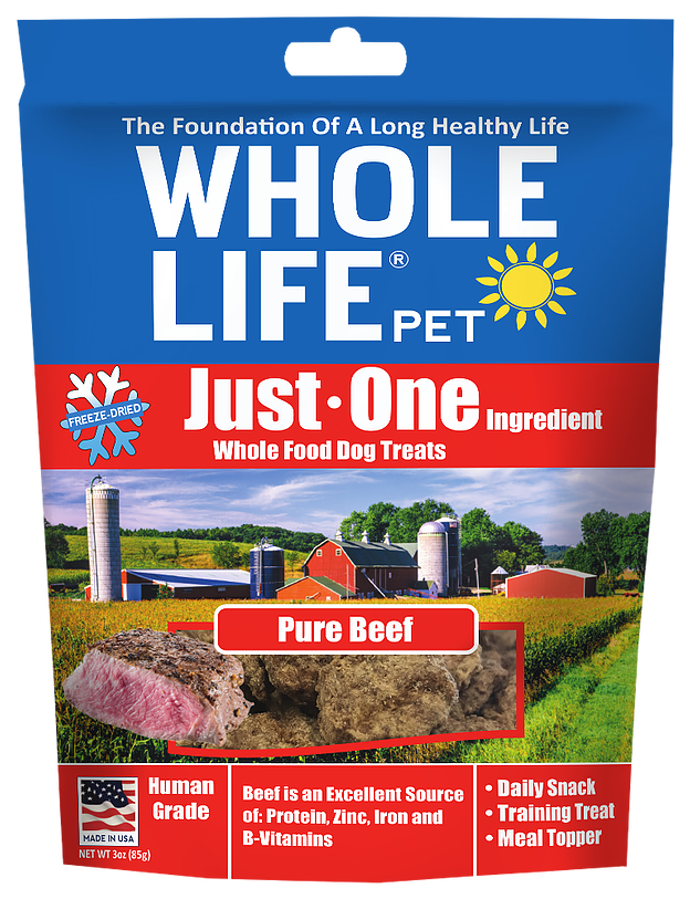 Whole Life Beef Treats for Dogs or Cats
