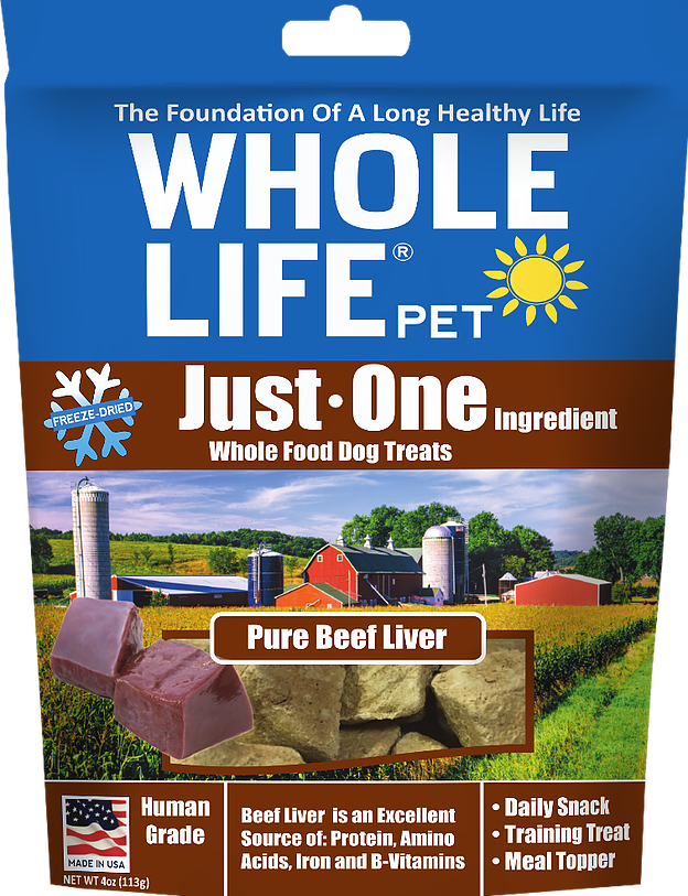 Whole Life Beef Liver Treats for Dogs or Cats