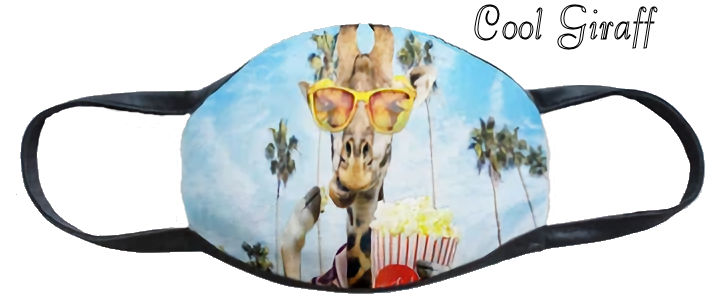 Cool Giraffe Fun Washable Mask