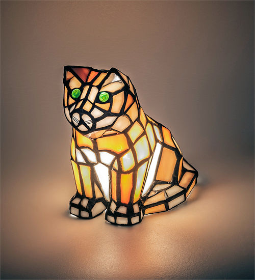 Gold Kitten Accent Lamp