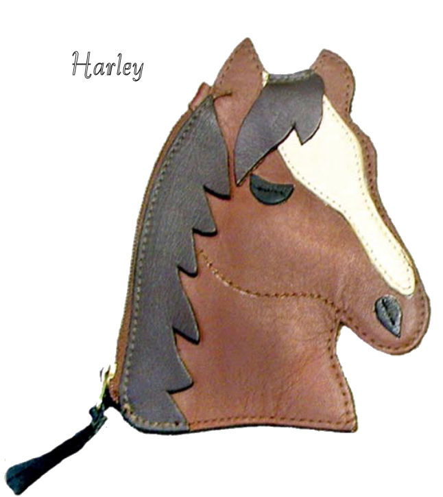 Harley the Horse Genuine Leather Coin Purse and Key Fob