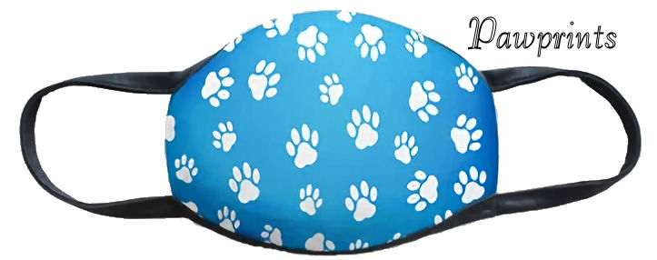 Pawprints Fun Washable Mask