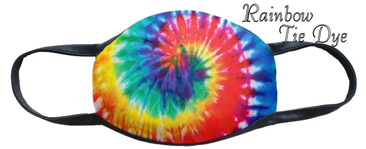 Rainbow Tie Dye Fun Washable Mask