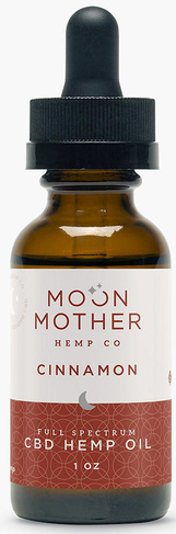 Moon Mother Organic Full Spectrum Hemp Oil Tincture Cinnamon