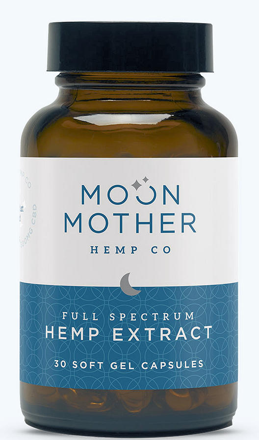 Moon Mother Organic Full Spectrum Hemp Oil 30 SoftGels, 2 Strengths