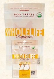 Whole Life Organic Chicken Treats , 1 oz. & 2.8 oz for Dogs or Cats